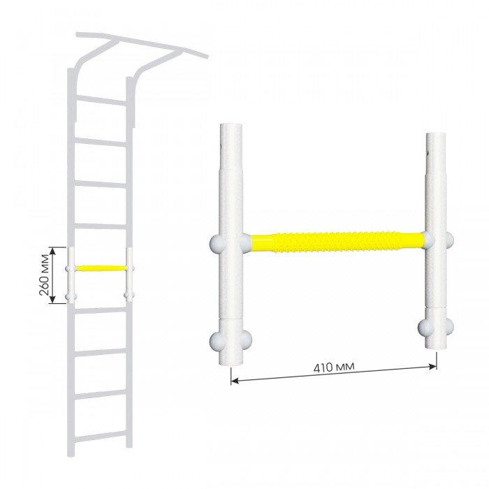 Купить Шведские стенки, Romana Вставка для увеличения высоты ДСКМ Dop8 410 мм