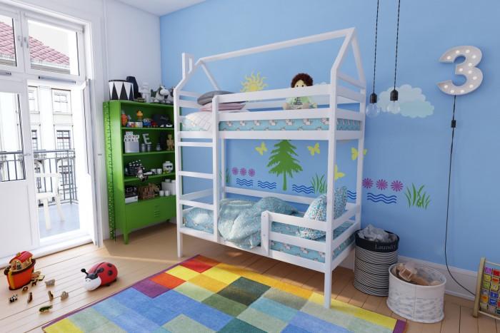 Кровати для подростков RooRoom Домик двухъярусная 160х70