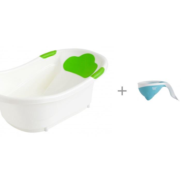 Купить Детские ванночки, ROXY-KIDS Ванночка с анатомической горкой и сливом + ковш с лейкой