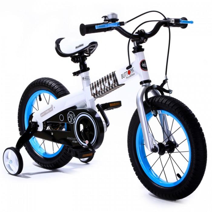 Двухколесные велосипеды Royal Baby Buttons steel RB16-15 детский велосипед royal baby honey steel 18 2016 черный