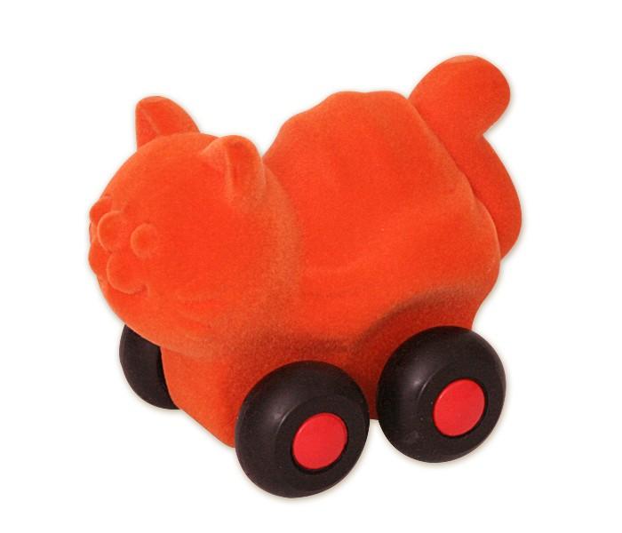 Развивающие игрушки Rubbabu Кошка из натурального каучука с флоковым покрытием 7 см машины rubbabu скутер из натурального каучука с флоковым покрытием 21 см