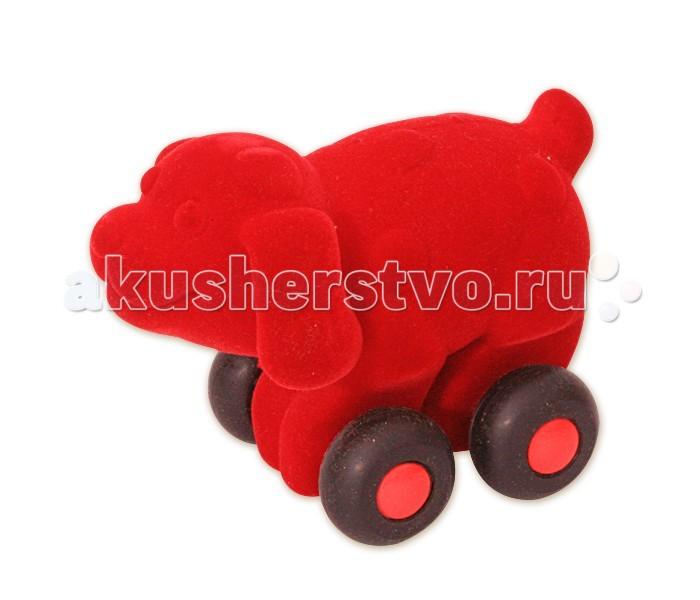 Развивающие игрушки Rubbabu Собака из натурального каучука с флоковым покрытием 10 см машины rubbabu скутер из натурального каучука с флоковым покрытием 21 см