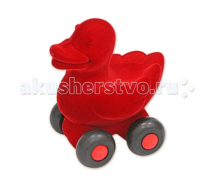 Развивающие игрушки Rubbabu Утенок из натурального каучука с флоковым покрытием 9 см машины rubbabu скутер из натурального каучука с флоковым покрытием 21 см