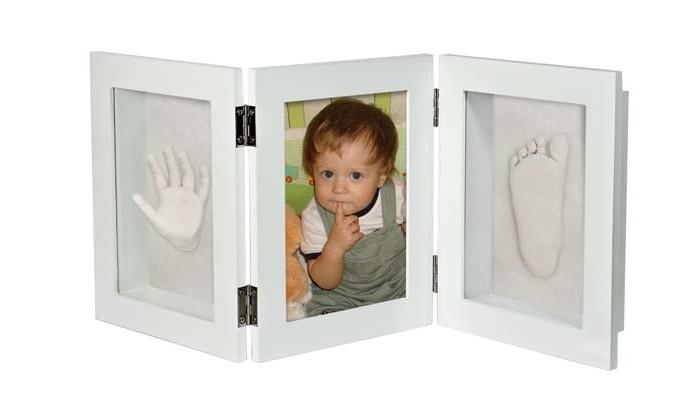 Фотоальбомы и рамки Ручки&Ножки Рамочка 3D тройная складная 51х21