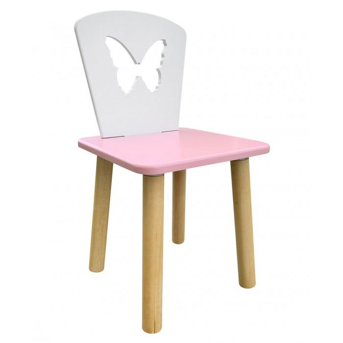 РусЭкоМебель Детский стул Бабочка (натуральный корпус)