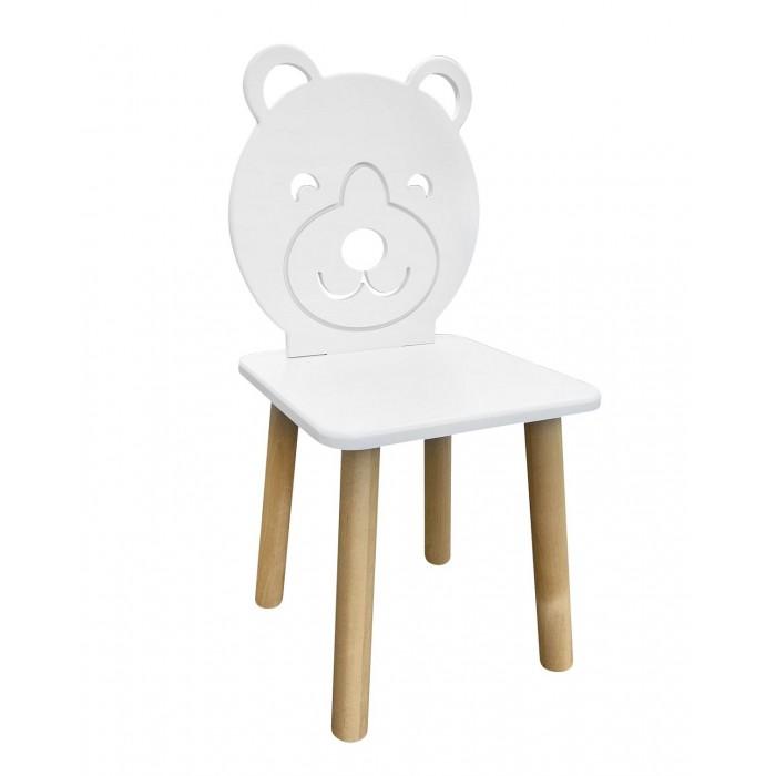 РусЭкоМебель Детский стул Animal Мишка (натуральный корпус)