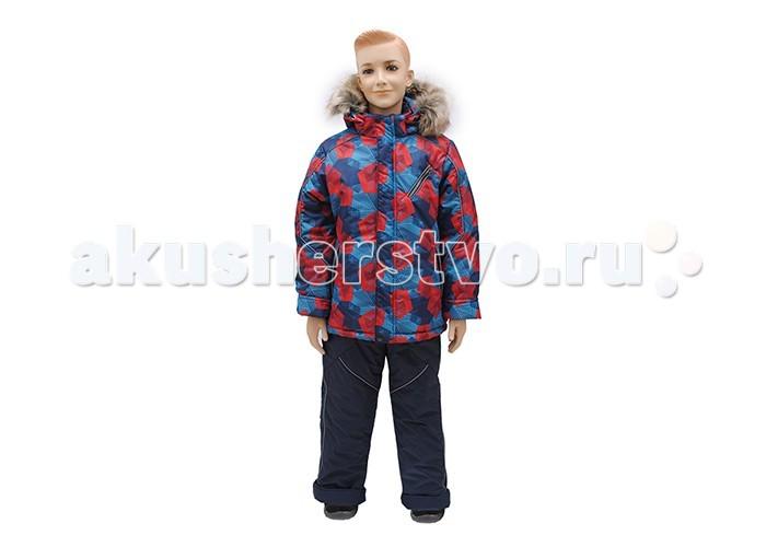 Русланд Комплект зимний А104-15БКомплект зимний А104-15БЗимний костюм для мальчика со съемной меховой подстежкой и ветрозащитной манжетой на рукавах.   Полукомбинезон с высокой грудкой и спинкой, защитой от снега и регулируемыми бретелями.  Температурный режим: -30 градусов.  Ткань верх: мембрана ВО. Мембрана имеет послойную пористо-пленочную структуру, что дает достаточно высокую степень защиты от влаги и ветра при этом сохраняет дышащие свойства и способность выводить образовавшийся внутри пар. Благодаря этим свойствам, материал хорошо подходит для активных детей в дождливую и холодную погоду. Подклад: флис - 100% полиэстер, трикотаж - 100% хлопок, рукава - капрон-100% полиэстер. Утеплитель: синтепон 100% полиэстер: куртка - 300 гр/м; полукомбинезон - 250 гр/м. Подстежка: Отстегивается! Мех - 30% шерсть, 70% полиэстер. Опушка: искусственный мех.  Для изготовления верхней одежды от TM Rusland используются современные прочные материалы, которые обладают высокой степенью износостойкости. Ткани пропитаны специальными составами, обеспечивающими ветронепроницаемость и непромокаемость одежды. Все материалы, используемые для производства детских изделий, абсолютно безопасны для здоровья и жизни детей.<br>