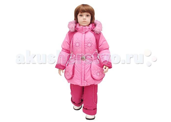 Русланд Комплект зимний А32-12Комплект зимний А32-12Зимний костюм для девочки со съемной меховой подстежкой и ветрозащитной манжетой на рукавах.   Полукомбинезон с высокой грудкой и спинкой, защитой от снега и регулируемыми бретелями.  Температурный режим: -30 градусов.  Ткань верх: дьюспа принтованная 100% полиэстер. Подклад: флис - 100% полиэстер, трикотаж - 100% хлопок, рукава - капрон-100% полиэстер. Утеплитель: синтепон 100% полиэстер: куртка - 300 гр/м; полукомбинезон - 250 гр/м. Подстежка: Отстегивается! Мех - 30% шерсть, 70% полиэстер. Опушка: искусственный мех.  Для изготовления верхней одежды от TM Rusland используются современные прочные материалы, которые обладают высокой степенью износостойкости. Ткани пропитаны специальными составами, обеспечивающими ветронепроницаемость и непромокаемость одежды. Все материалы, используемые для производства детских изделий, абсолютно безопасны для здоровья и жизни детей.<br>