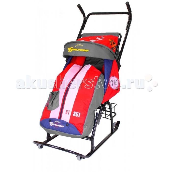 Санки-коляска R-Toys Герда 42-Р5 Тачки Эксклюзив с корзинкой