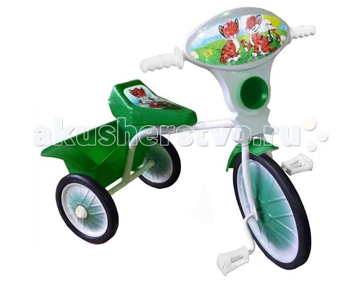Велосипед трехколесный Russia Малыш 05Малыш 05Для поддержания физического здоровья ребенка Вам пригодится детский велосипед для прогулок. Во время катания на велосипеде укрепляется мышечная масса ног и формируется ровная осанка ребенка.   С таким трехколесным велосипедом прогулка будет не только интересной, но и полезной. Велосипед легкий, маневренный на прочной раме с пластиковыми колесами.   Для бесшумного движения колеса оборудованы резиновыми шинами. Яркая панель украшена красивыми картинками и гудком. Удобная корзина для игрушек позволит взять с собой на прогулку любимые игрушки.  Материал рамы: металл Материал колес: металл + резина  Вес: 3.3 кг Размер: 60 &#215; 35 &#215; 60 см<br>