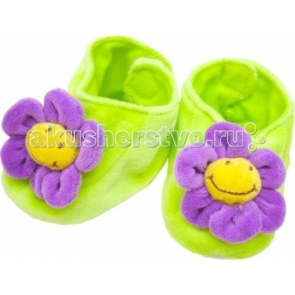 Обувь и пинетки Мотылек Пинетки велюровые обувь для новорожденных