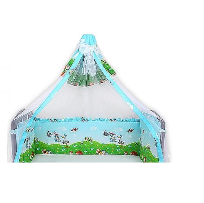 Бампер для кроватки Мотылек с балдахином