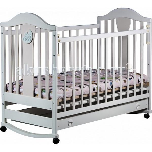 Купить Детские кроватки, Детская кроватка Наполеон колесо-качалка с ящиком