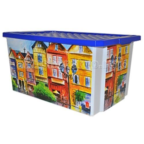 Купить Ящики для игрушек, Полимербыт Ящик для хранения игрушек Optima 57 л