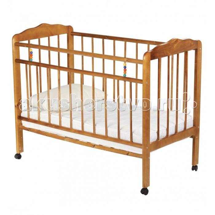 Детская кроватка Russia Женечка-1 колесоЖенечка-1 колесоДетская кроватка Russia Женечка-1 колесо  Все начинается с нее, с детской кроватки, человек и так много времени посвящает сну, а ребенок и того больше. Сон необходим малышу, чтобы отдохнуть, набраться сил и снова радовать родителей новыми детскими достижениями и улыбками. Поэтому очень важно, чтобы детская кроватка была комфортной и способствовала крепкому и здоровому сну Вашего ребенка.   Кроватки Женечка изготавливаются из древесины березы на импортном оборудовании. Преимуществом изделий фабрики являются прочность и долговечность, экологическая чистота и удивительное изящество, заложенное самой природой. Продукция фабрики пользуется неизменным успехом у потребителей и поэтому заслуженно награждена различными дипломами.  Особенности: оснащена колесами, благодаря которым ее легко перемещать опускаемая боковина ложе кроватки имеет два уровня крепления по высоте реечное основание кроватки отсутствие выступающих углов и неровностей, что обеспечивает безопасность для малыша классический дизайн материал – береза (обеспечивает высокую прочность и долговечность) cтопор колеc - нет<br>