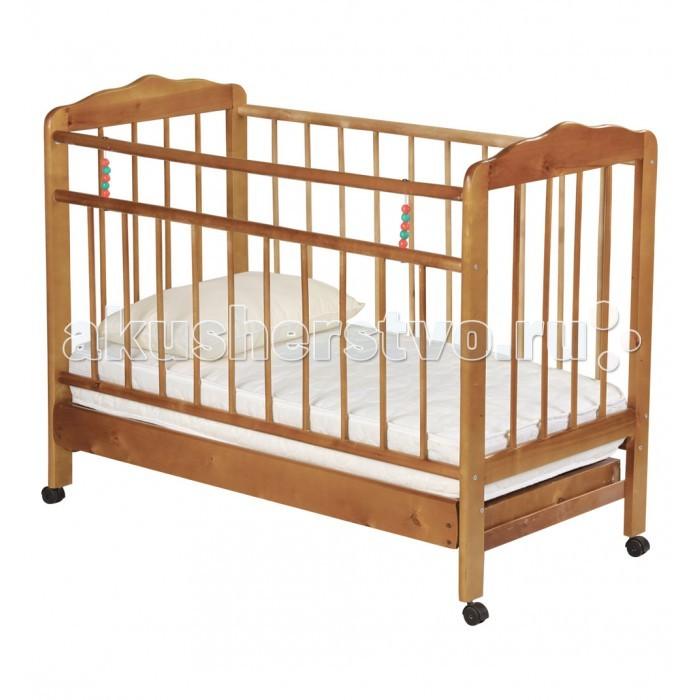 Детская кроватка Russia Женечка-2 колесо с ящиком