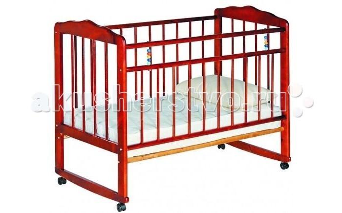 Детская кроватка Russia Женечка-3 колесо-качалкаЖенечка-3 колесо-качалкаДетская кроватка Russia Женечка-3 колесо-качалка  Все начинается с нее, с детской кроватки, человек и так много времени посвящает сну, а ребенок и того больше. Сон необходим малышу, чтобы отдохнуть, набраться сил и снова радовать родителей новыми детскими достижениями и улыбками. Поэтому очень важно, чтобы детская кроватка была комфортной и способствовала крепкому и здоровому сну Вашего ребенка.   Кроватки Женечка изготавливаются из древесины березы на импортном оборудовании. Преимуществом изделий фабрики являются прочность и долговечность, экологическая чистота и удивительное изящество, заложенное самой природой. Продукция фабрики пользуется неизменным успехом у потребителей и поэтому заслуженно награждена различными дипломами.  Особенности: оснащена колесами, благодаря которым ее легко перемещать опускаемая боковина ложе кроватки имеет два уровня крепления по высоте реечное основание кроватки отсутствие выступающих углов и неровностей, что обеспечивает безопасность для малыша классический дизайн при снятых колесиках кроватка превращается в качалку материал – береза (обеспечивает высокую прочность и долговечность)<br>