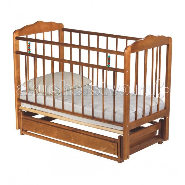 Детская кроватка Russia Женечка-6 поперечный маятник с ящиком