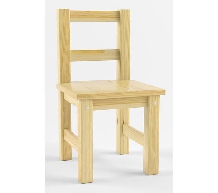 Русские-Игрушки Детский деревянный стул не окрашен