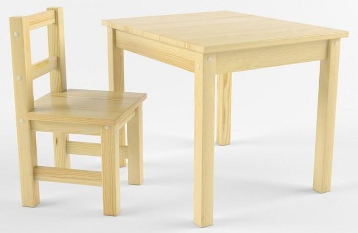 Русские игрушки Набор детской мебели (стол, стул) деревянный не окрашен от Русские игрушки