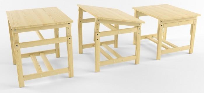 Купить Детские столы и стулья, Русские игрушки Растущая стол-парта деревянная не окрашенная