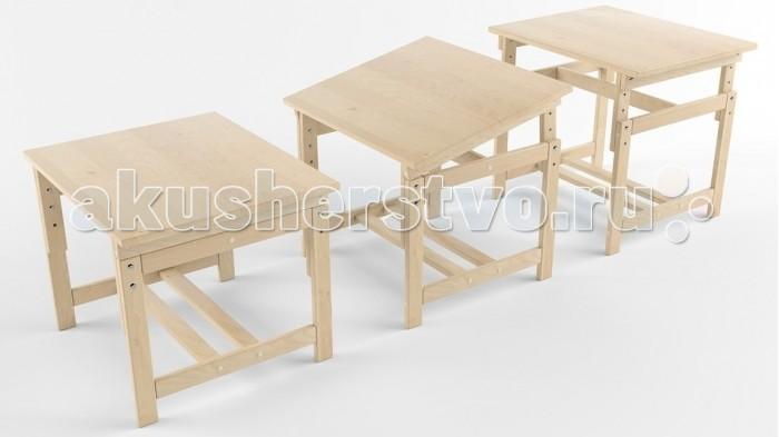 Купить Детские столы и стулья, Русские игрушки Растущая стол-парта деревянная покрыта лаком
