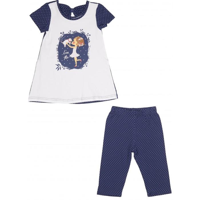 Комплекты детской одежды RuZkids Комплект для девочки (туника, капри) Радость