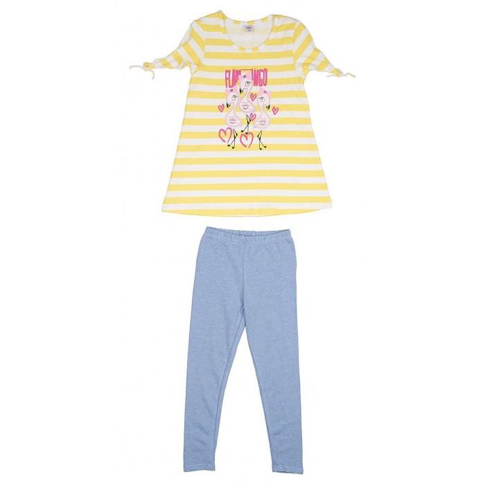 Фото - Комплекты детской одежды RuZkids Комплект для девочки (туника, леггинсы) Фламинго комплекты детской одежды mini world комплект для девочки туника бриджи