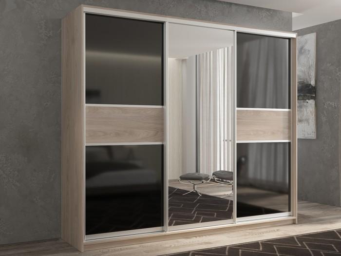 Купить Шкафы, Шкаф РВ-Мебель купе 3-х дверный Кааппи 180х45 см KAAPPI3-32 (Дуб Кастелло серый)