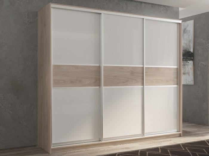 Купить Шкафы, Шкаф РВ-Мебель купе 3-х дверный Кааппи 240х60 см KAAPPI3-32-11-1 (Дуб Кастелло серый)