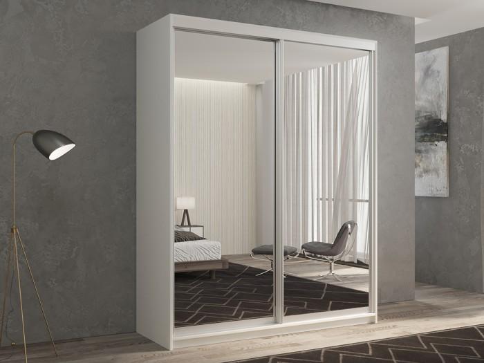 Шкафы РВ-Мебель купе 2-х дверный Кааппи 1 140х45 см (Белый бриллиант) недорого