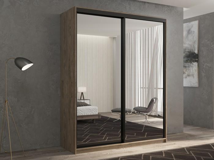 Шкафы РВ-Мебель купе 2-х дверный Кааппи 1 140х45 см (Дуб Харбор Эспрессо)