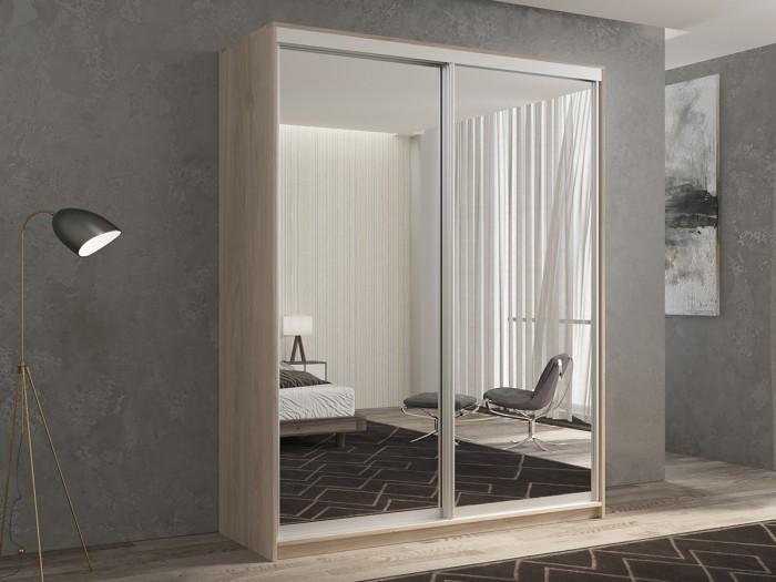 Шкафы РВ-Мебель купе 2-х дверный Кааппи 1 140х60 см (Дуб Кастело серый) недорого