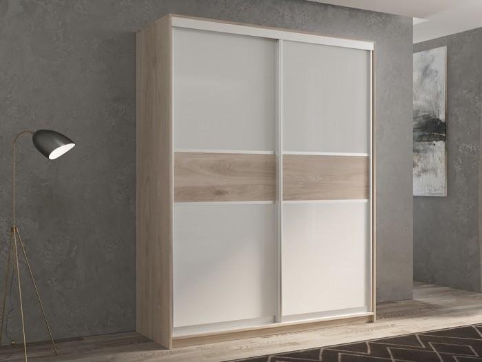 Шкафы РВ-Мебель купе 2-х дверный Кааппи 140х45 см KAAPPI2 (Дуб Кастело серый) недорого