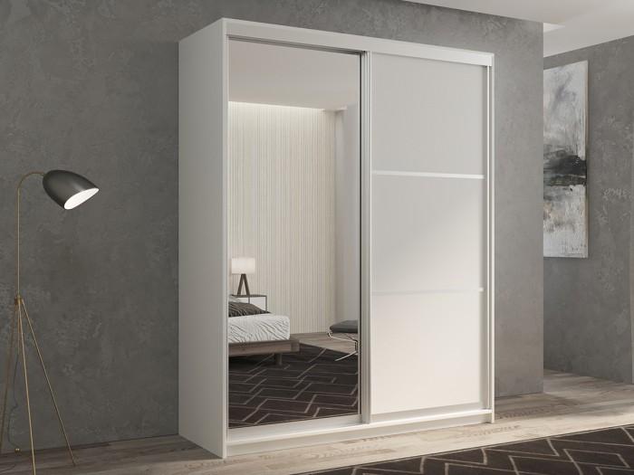 Шкафы РВ-Мебель купе 2-х дверный Кааппи 2 140х45 см (Белый бриллиант) недорого