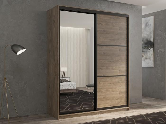 Шкафы РВ-Мебель купе 2-х дверный Кааппи 2 140х60 см (Дуб Харбор Эспрессо) шкафы купе в реутове