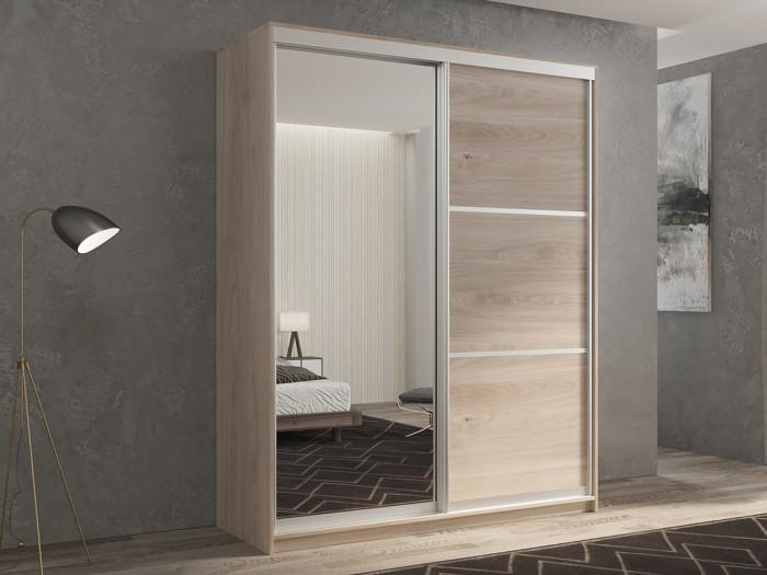Шкафы РВ-Мебель купе 2-х дверный Кааппи 2 140х45 см (Дуб Кастело серый) недорого