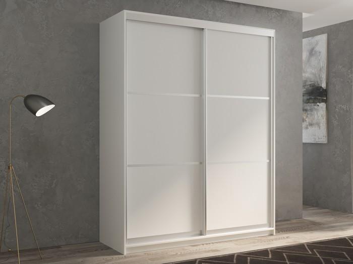 Шкафы РВ-Мебель купе 2-х дверный Кааппи 4 140х45 см (Белый бриллиант) недорого