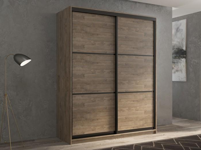 Шкафы РВ-Мебель купе 2-х дверный Кааппи 4 140х45 см (Дуб Харбор Эспрессо) шкафы купе в реутове