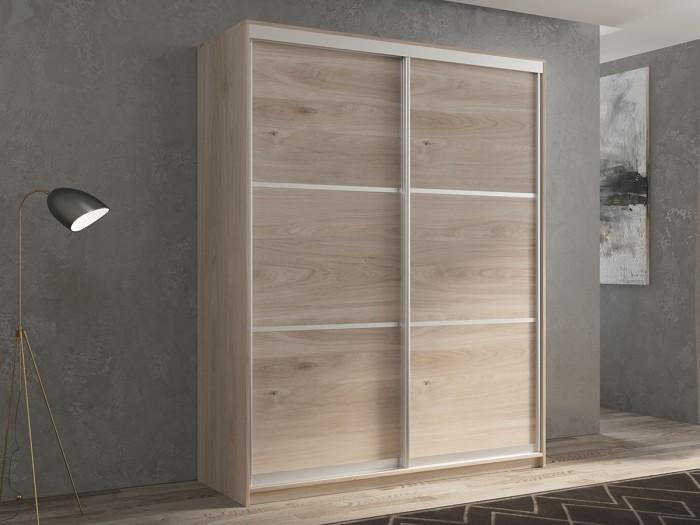 Шкафы РВ-Мебель купе 2-х дверный Кааппи 4 140х45 см (Дуб Кастело серый)
