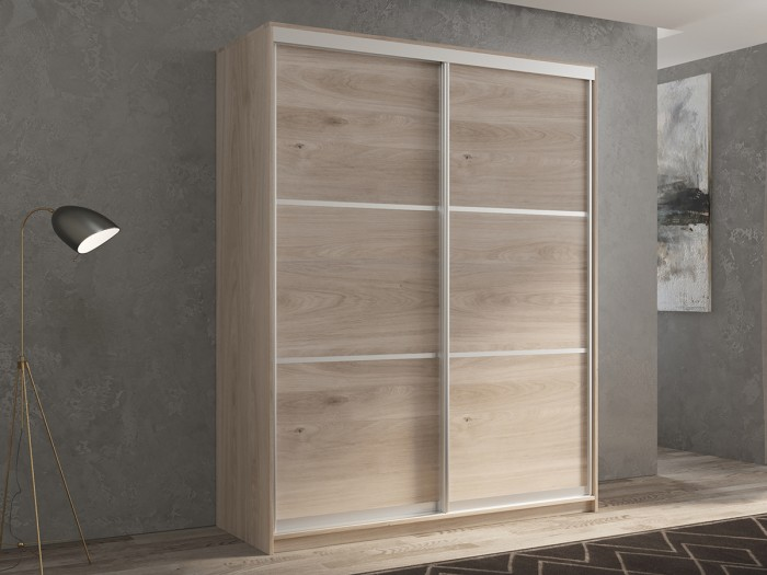 Шкафы РВ-Мебель купе 2-х дверный Кааппи 4 140х60 см (Дуб Кастело серый) шкафы купе в реутове