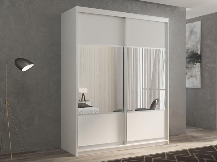 Шкафы РВ-Мебель купе 2-х дверный Кааппи 6 140х45 см (Белый бриллиант) недорого