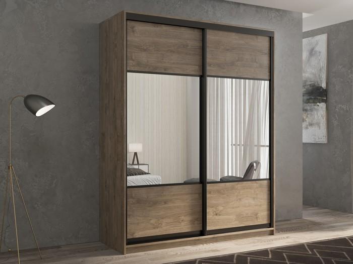 Шкафы РВ-Мебель купе 2-х дверный Кааппи 6 140х45 см (Дуб Харбор Эспрессо)