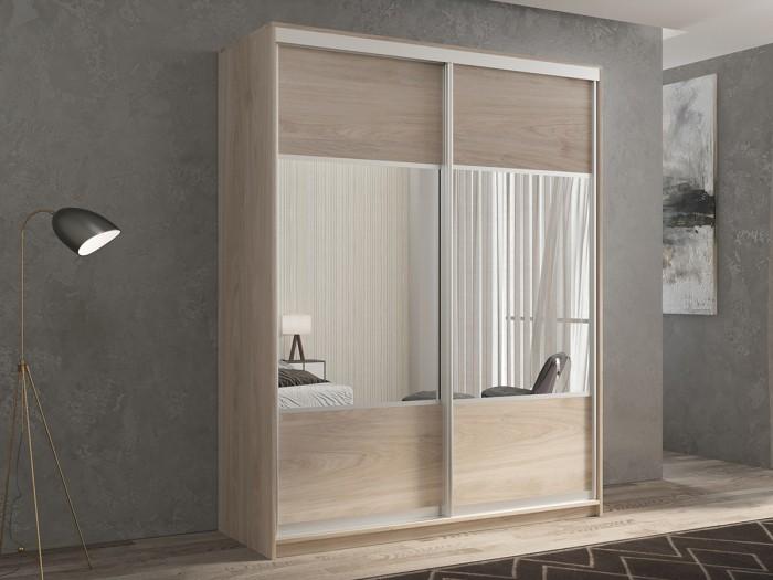 Шкафы РВ-Мебель купе 2-х дверный Кааппи 6 140х60 см (Дуб Кастело серый) недорого