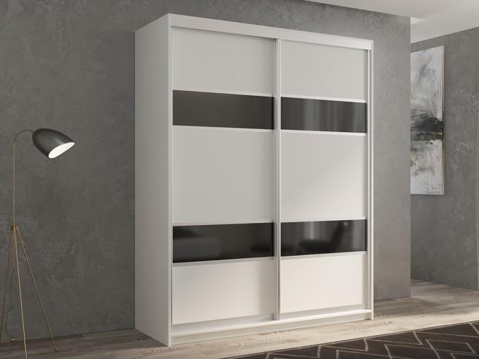 Шкафы РВ-Мебель купе 2-х дверный Кааппи 140х45 см (Белый бриллиант) недорого