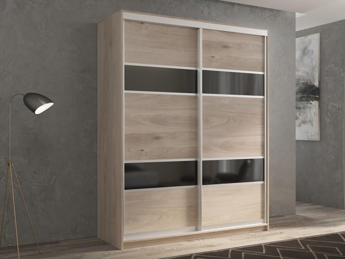 Шкафы РВ-Мебель купе 2-х дверный Кааппи 140х45 см (Дуб Кастело серый) шкафы купе в реутове