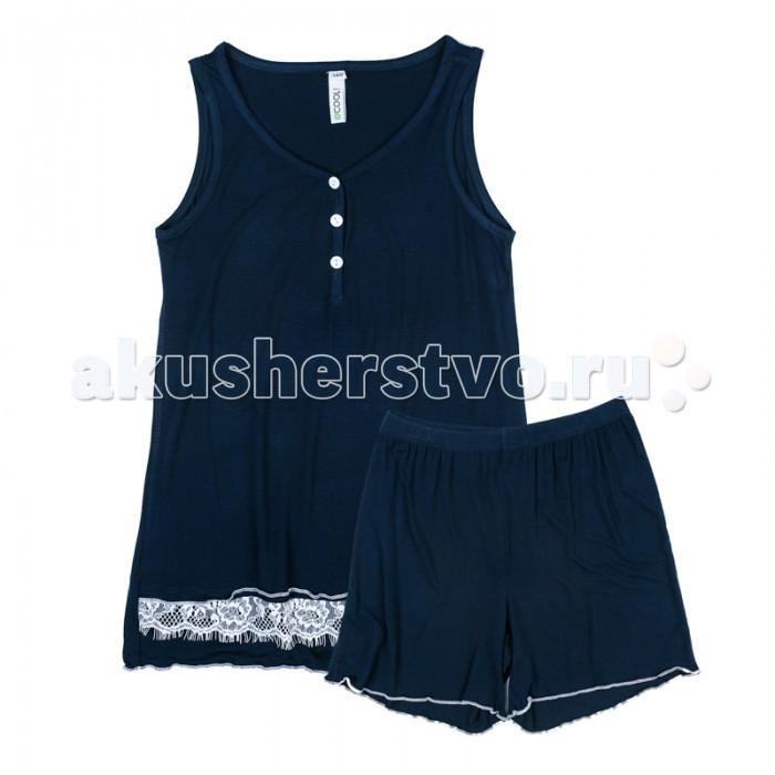 Детская одежда , Детское белье S'cool Комплект трикотажный для девочек (майка, шорты) Домашний уют арт: 382589 -  Детское белье