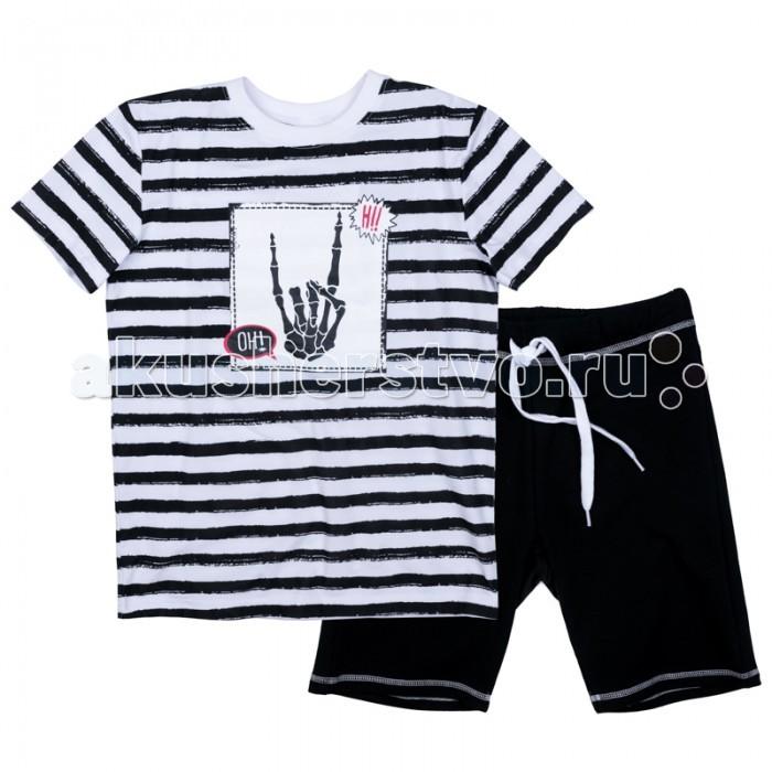 Детская одежда , Комплекты детской одежды S'cool Комплект трикотажный для мальчиков (фуфайка и шорты) Хэллоуин 373102 арт: 380184 -  Комплекты детской одежды