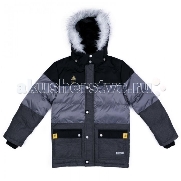 S'cool Куртка текстильная для мальчиков МилитариКуртка текстильная для мальчиков МилитариScool Куртка текстильная для мальчиков Милитари 373051 - теплая куртка из ткани с водоотталкивающей пропиткой - отличное решение для холодной погоды. Капюшон на кнопках, при необходимости его можно отстегнуть. Контур капюшона декорирован искуссвенным мехом. Подкладка из теплого флиса яркойго цвета. Модель со снегозащитной юбкой. Низ изделия дополнен регулируемым шнуром - кулиской. Куртка дополнена накладными карманами.  Состав: Верх: 100% полиэстер, Подкладка: 100% полиэстер, Наполнитель: 100% полиэстер, 300 г/м2. Рекомендации по уходу: стирка автомат до 30°<br>