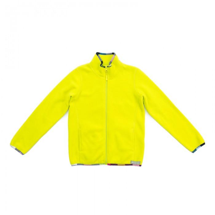 цена Куртки, пальто, пуховики S'cool Куртка трикотажная для девочек Привет, Париж! 374056 онлайн в 2017 году